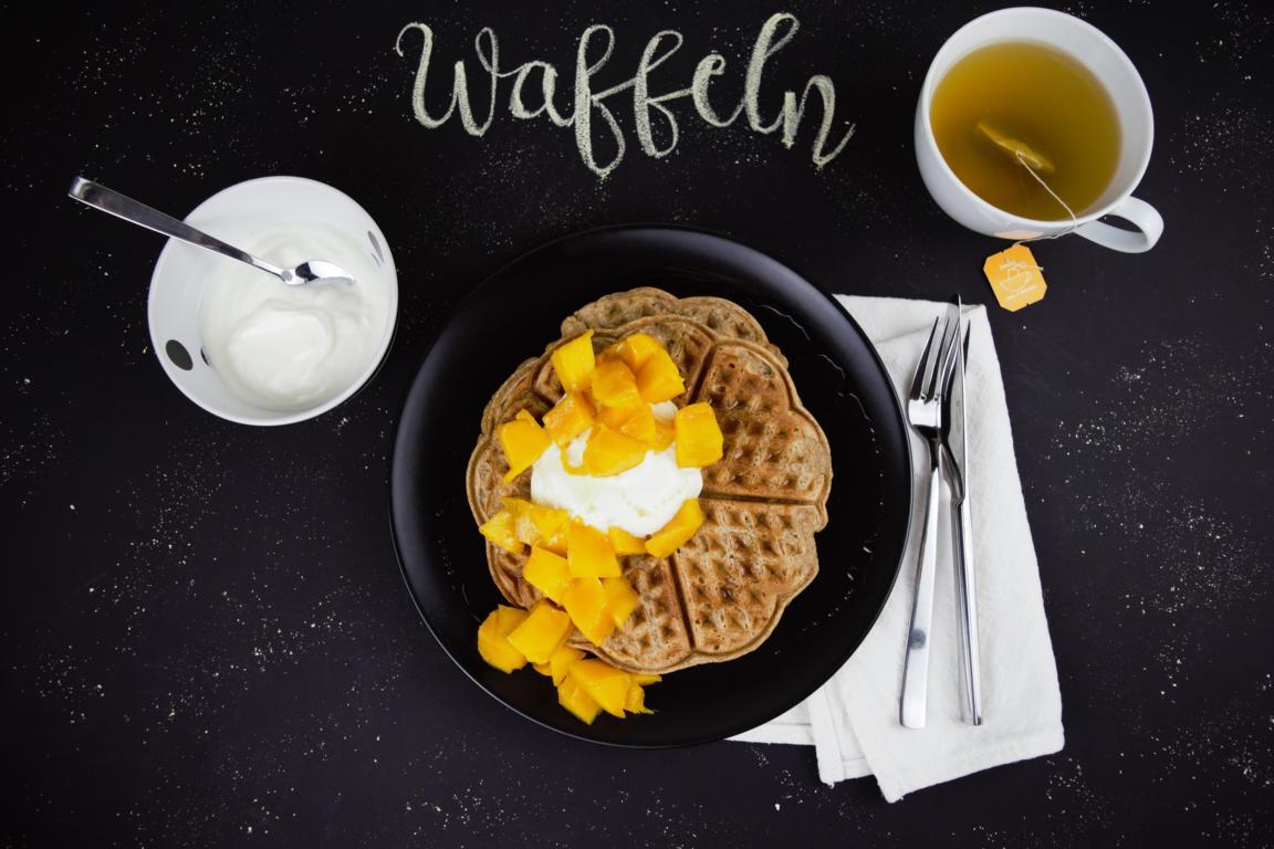 gesunde Frühstücks Waffeln
