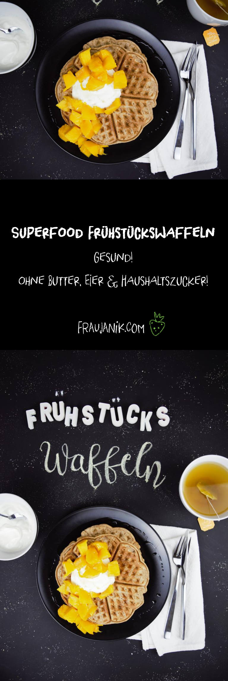 gesunde Superfood Frühstückswaffeln