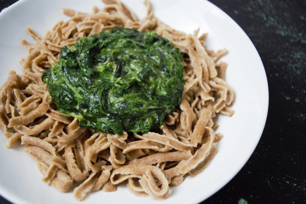 Spinat Gorgonzola Sauce Frau Janik