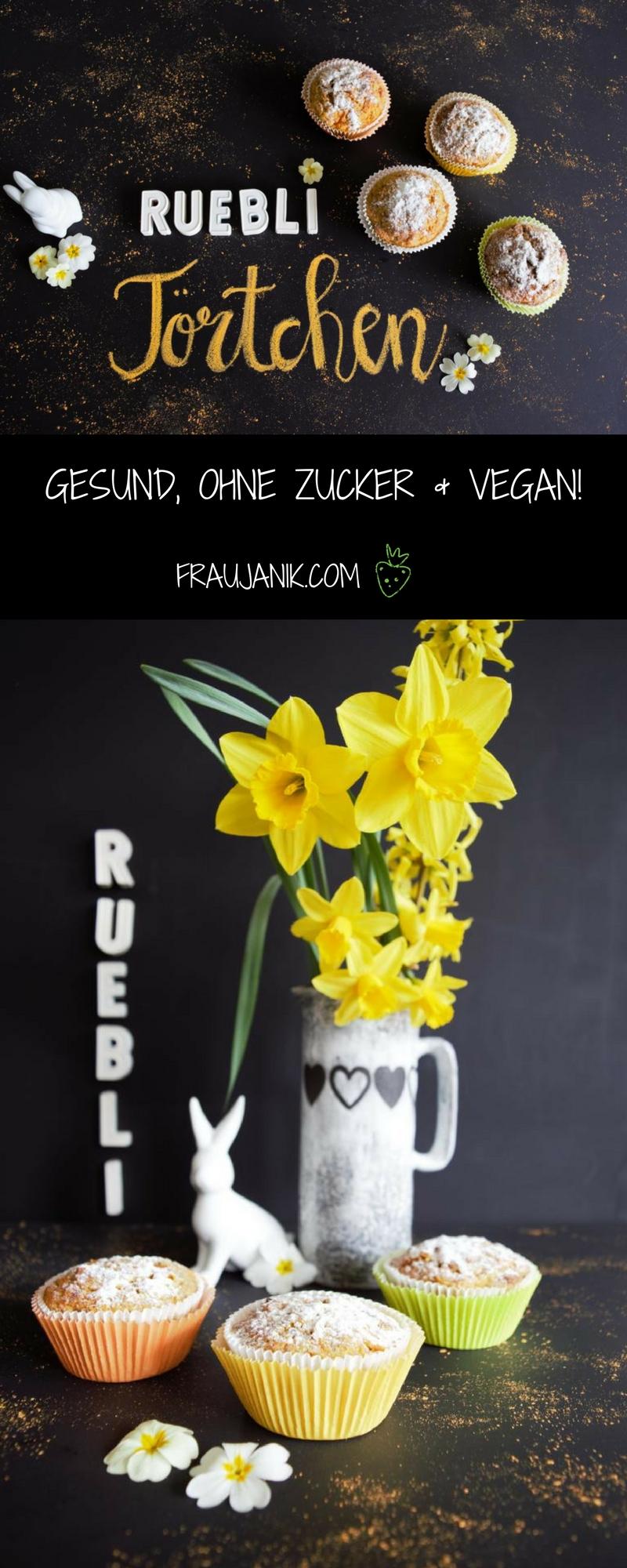 Rüblimuffins vegan ohne Zucker
