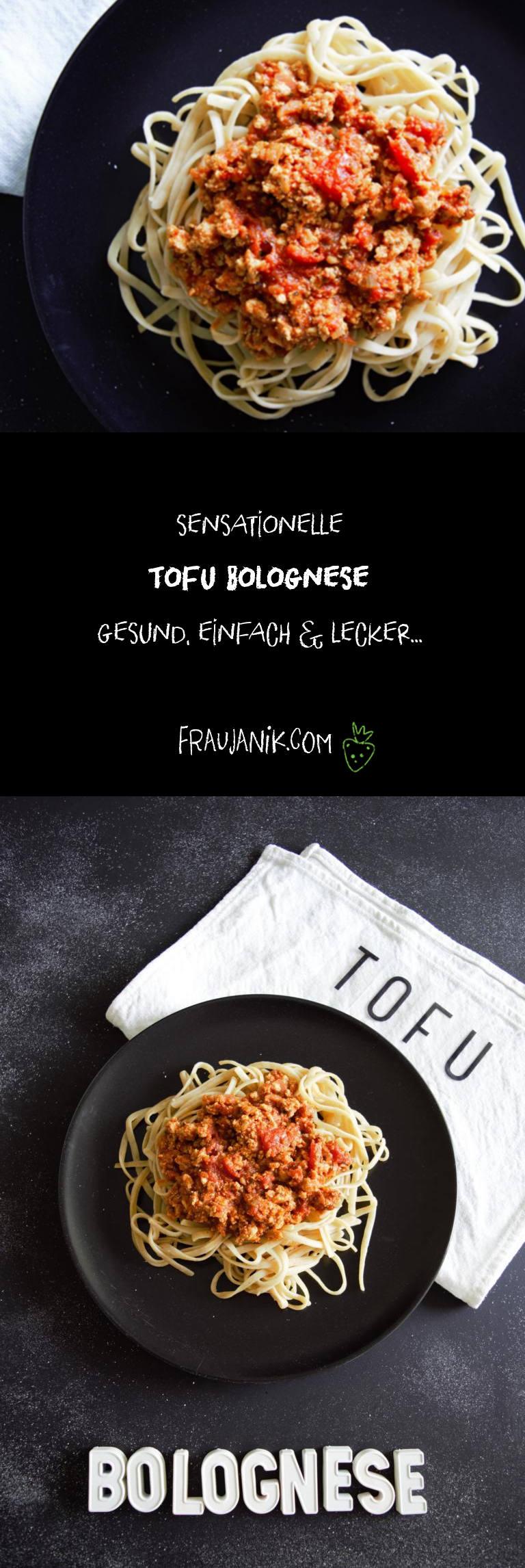 Tofu Bolognese