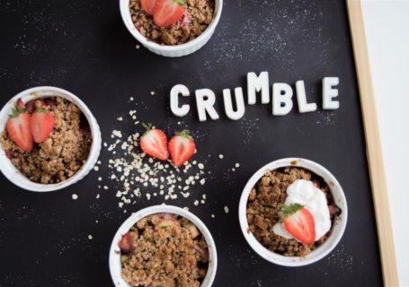 Crumble mit Haferflocken gesund