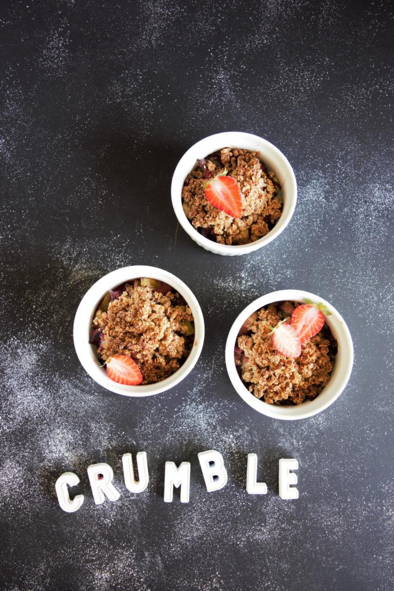 gesunder Crumble mit Haferflocken
