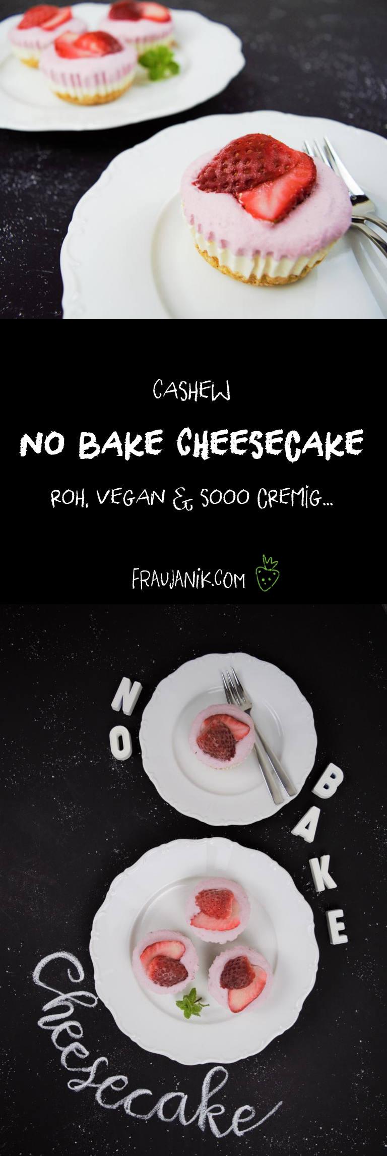 roher veganer Cheesecake aus Cashews