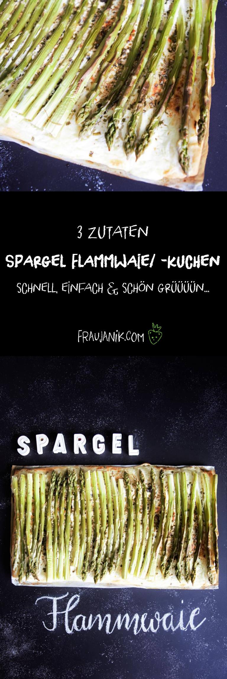 Spargel Flammwaie/Flammkuchen