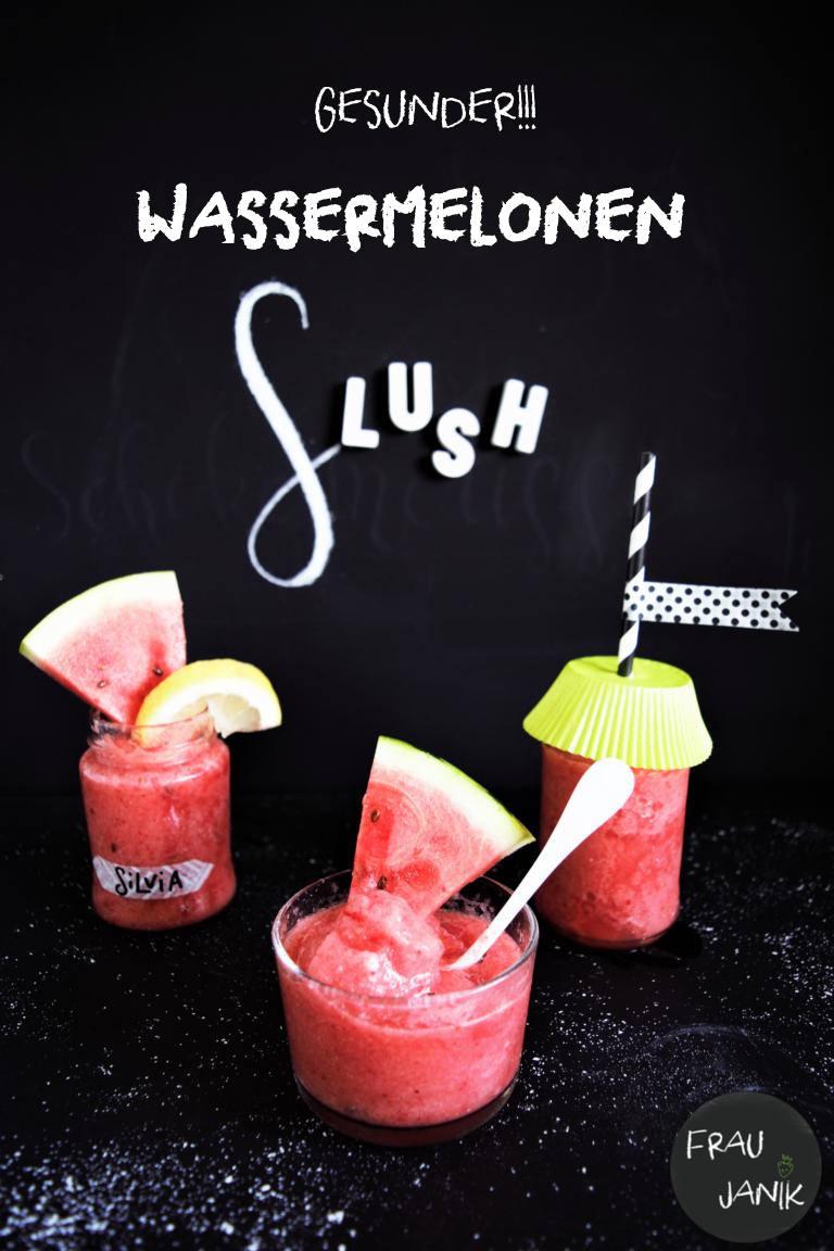 Gesunder Wassermelonen Slush