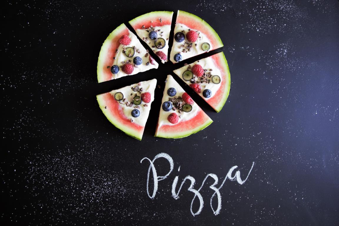 Wassermelone Pizza