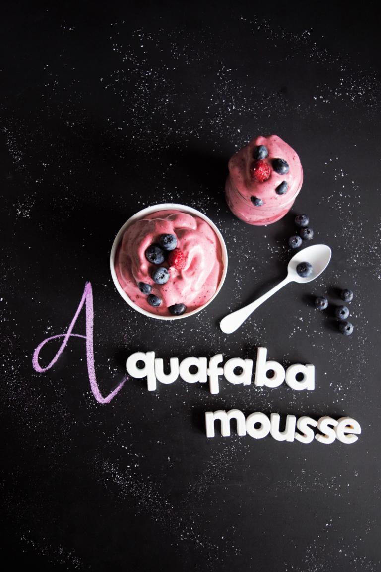 Aquafaba Mousse