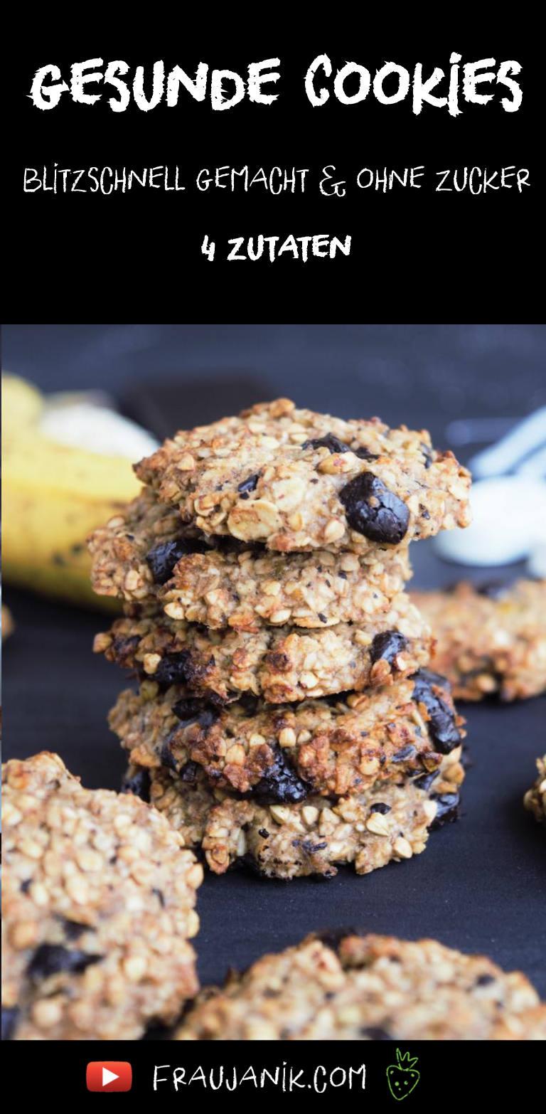 gesunde cookies kekse Haferflocken Banane 4 Zutaten
