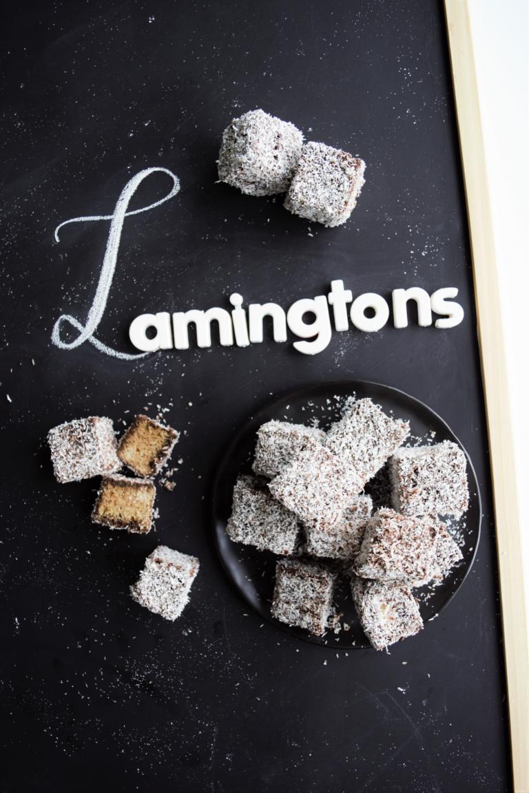 Vegane Lamingtons / Čupavci / Schoko-Kokos-Würfel
