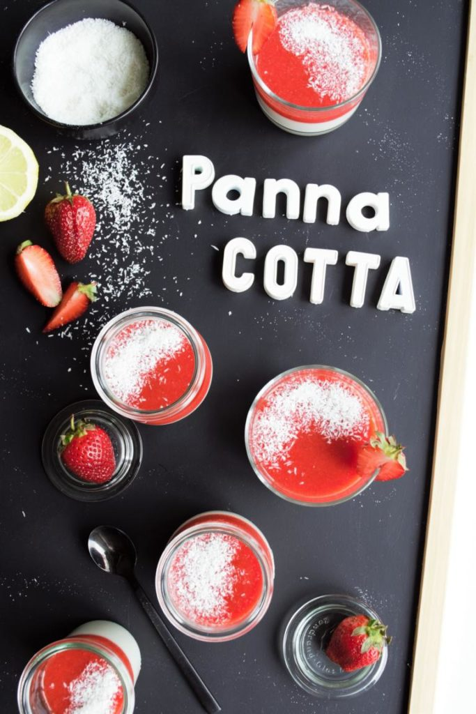 vegane Panna Cotta mit Kokosmilch