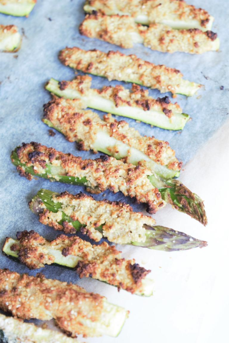 knusprige Zucchini Pommes | vegan