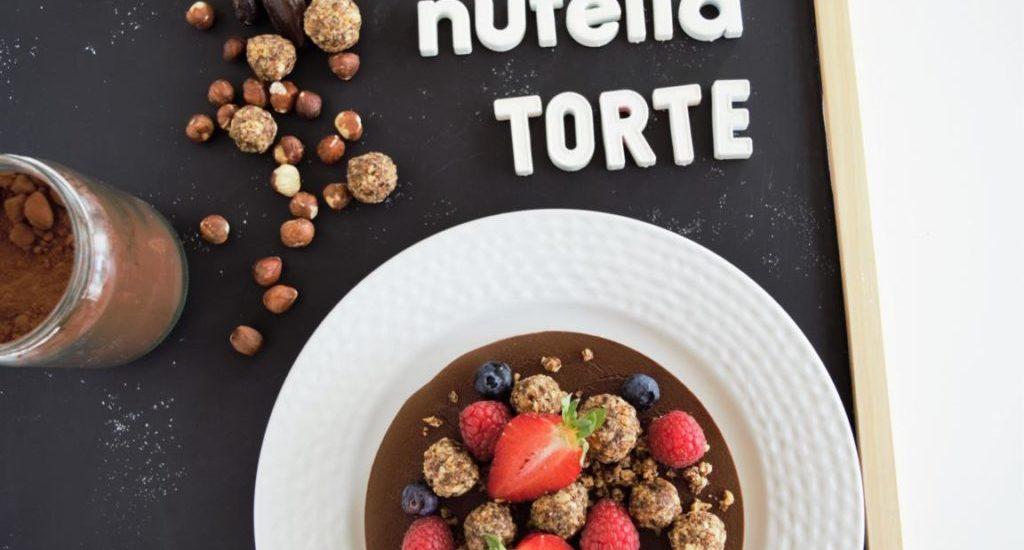 Nutella/ Schoko Torte ohne backen   gesund & vegan