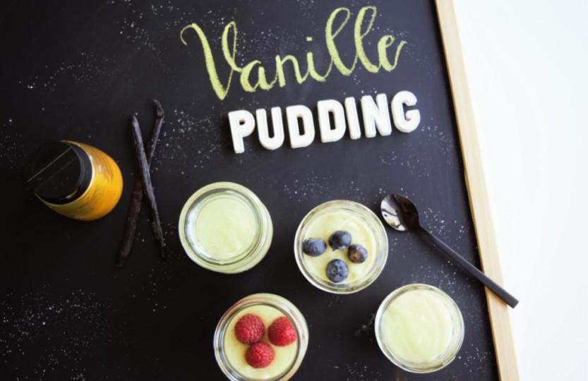 Vanillepudding vegan