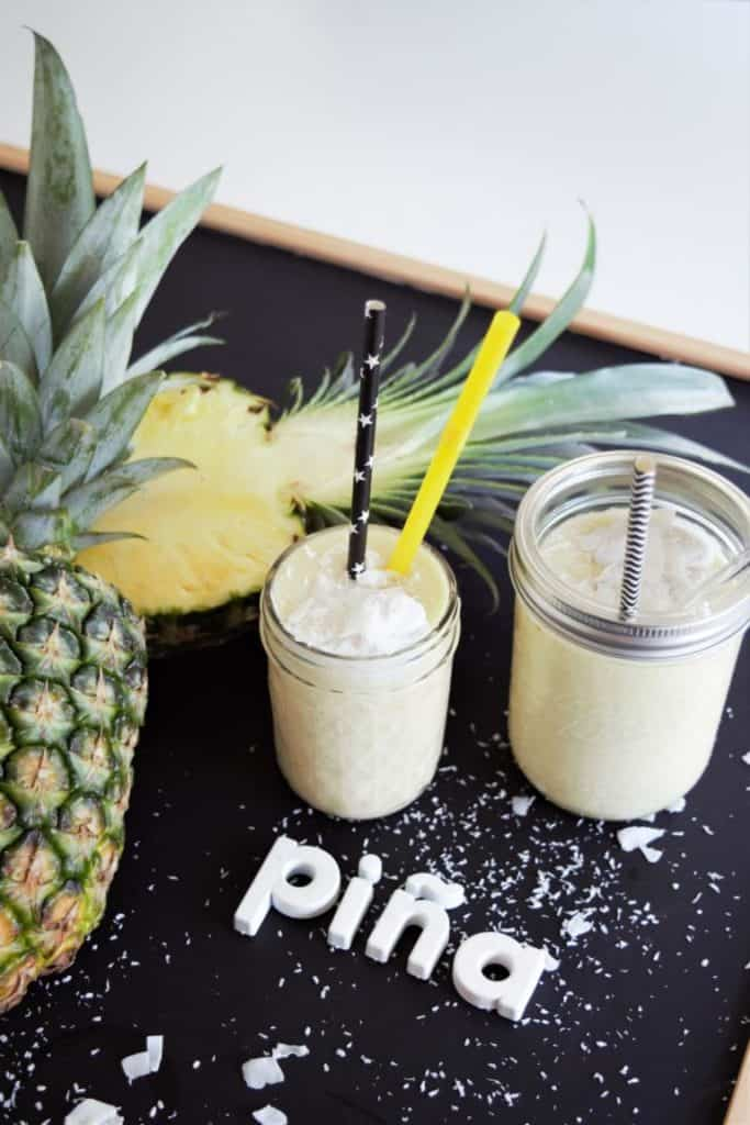 Pina Colada Mocktail, vegan, Kokosmilch, alkoholfrei, Cocktail, Ananas, Smoothie