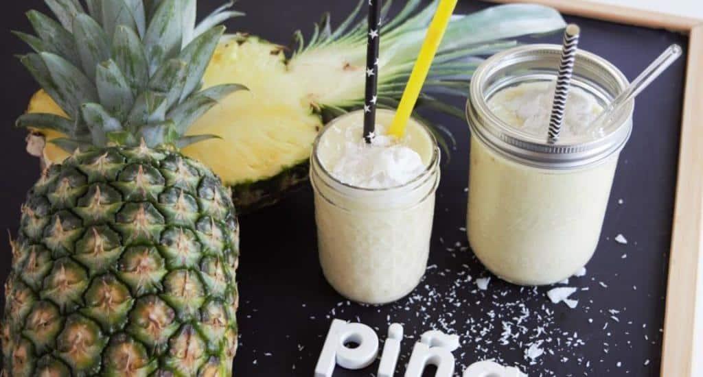 Pina Colada Mocktail, vegan, Kokosmilch, alkoholfrei, Cocktail, Ananas, Smoothie