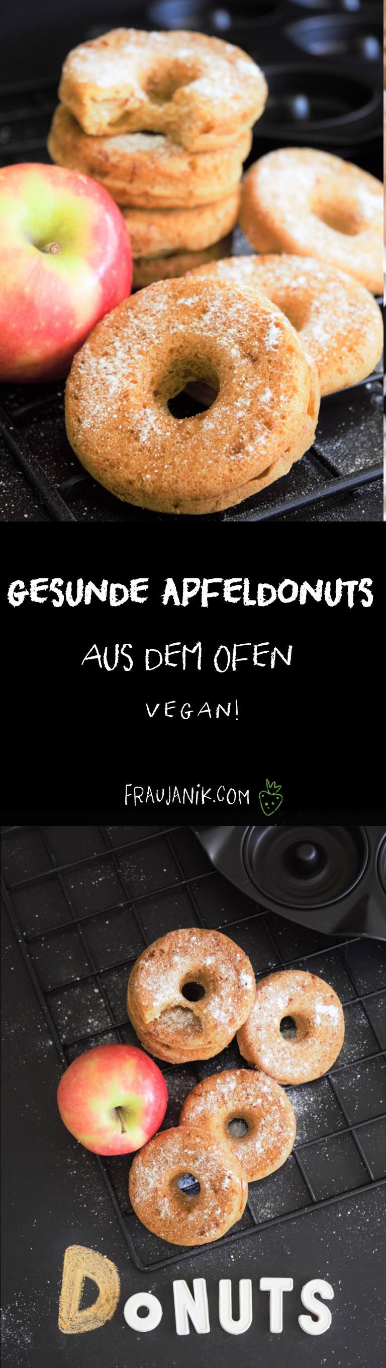 Apfel Donuts, donuts aus dem Ofen, Apfelküchlein
