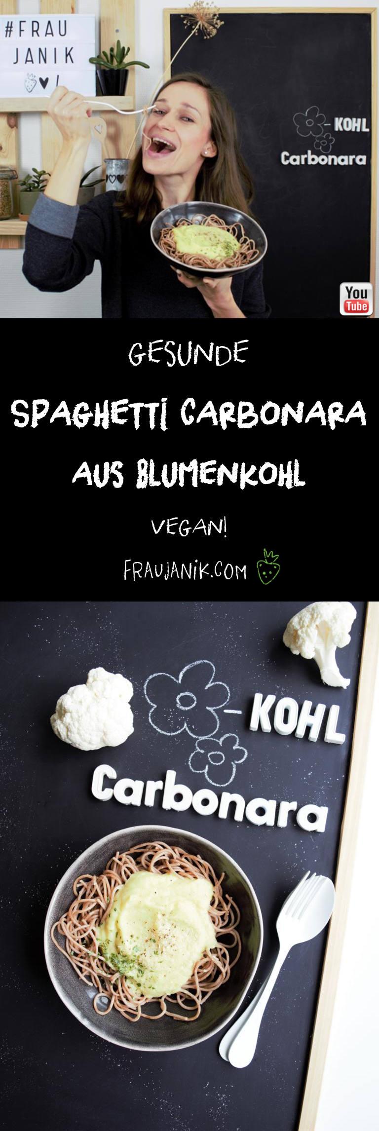 Blumenkohl Carbonara vegan