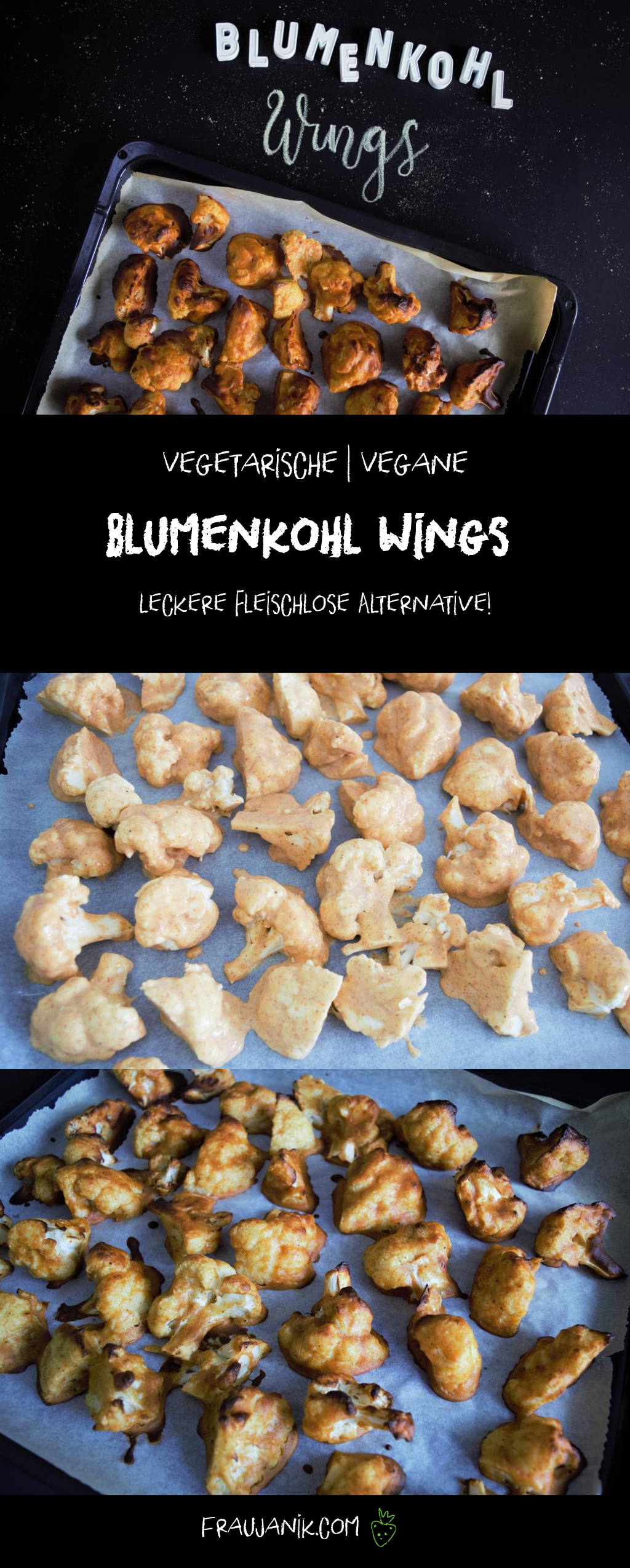 Blumenkohl Wings, vegan