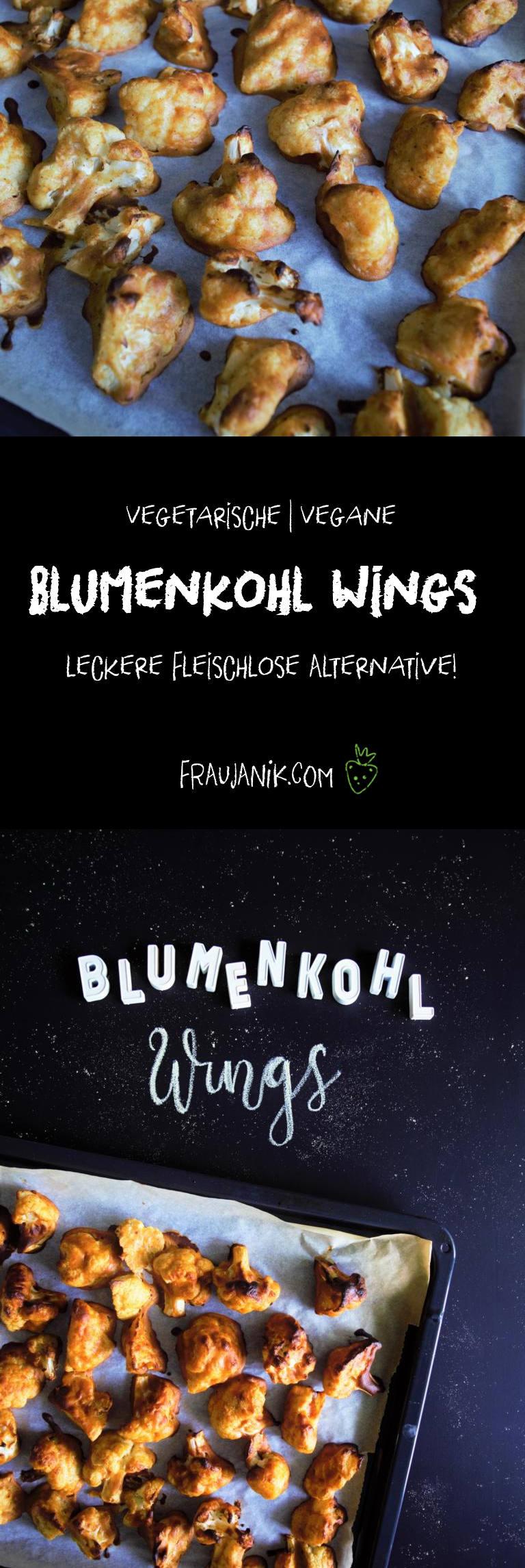 Blumenkohl Wings, vegan