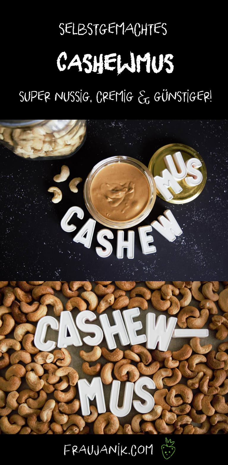 selbstgemachtes Cashewmus, nussmus