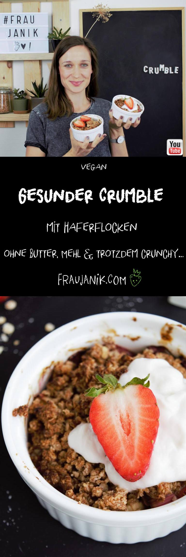 gesunder Crumble vegan Haferflocken
