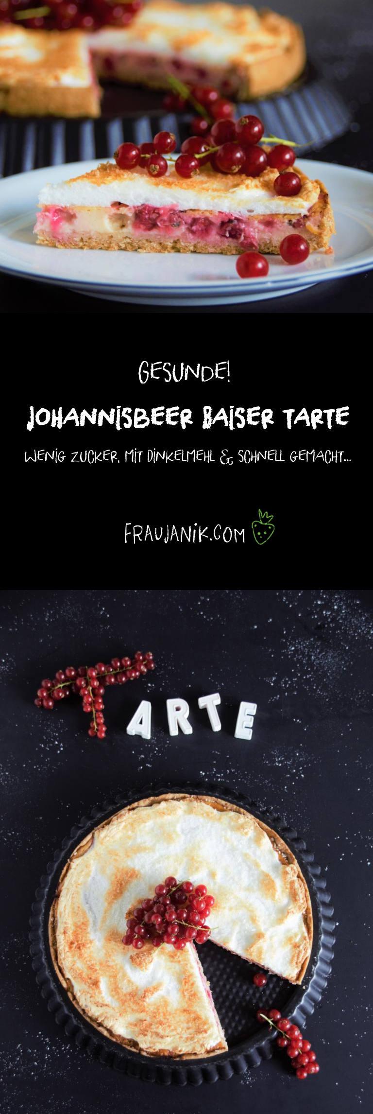 Johannisbeer Baiser Tarte, gesund