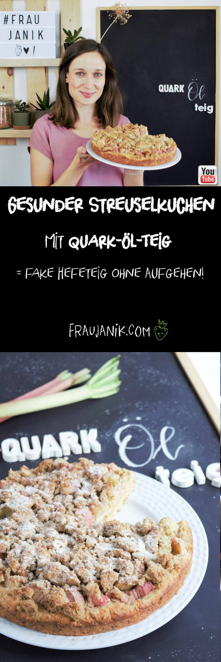 gesunder Streuselkuchen Quark-öl-teig
