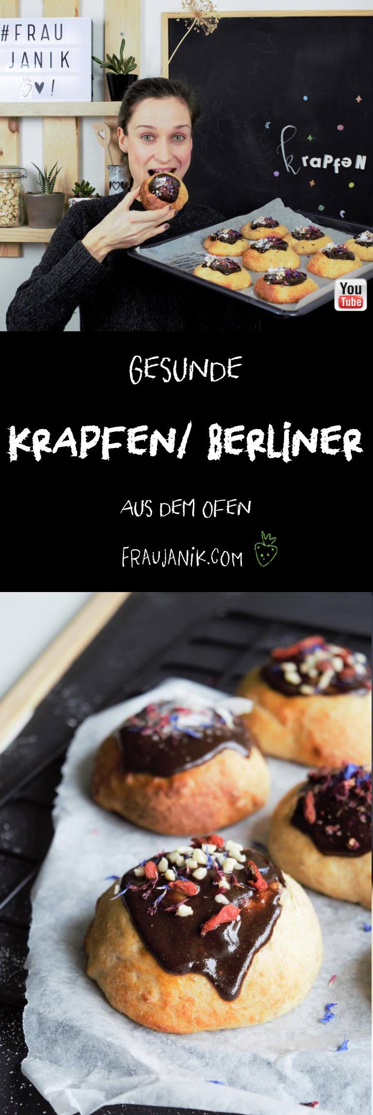 Krapfen, Berliner, gesund, aus dem Ofen