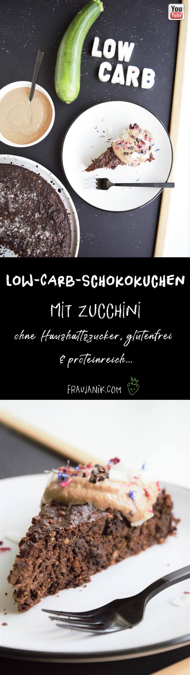 Low Carb Schokokuchen mit Zucchini