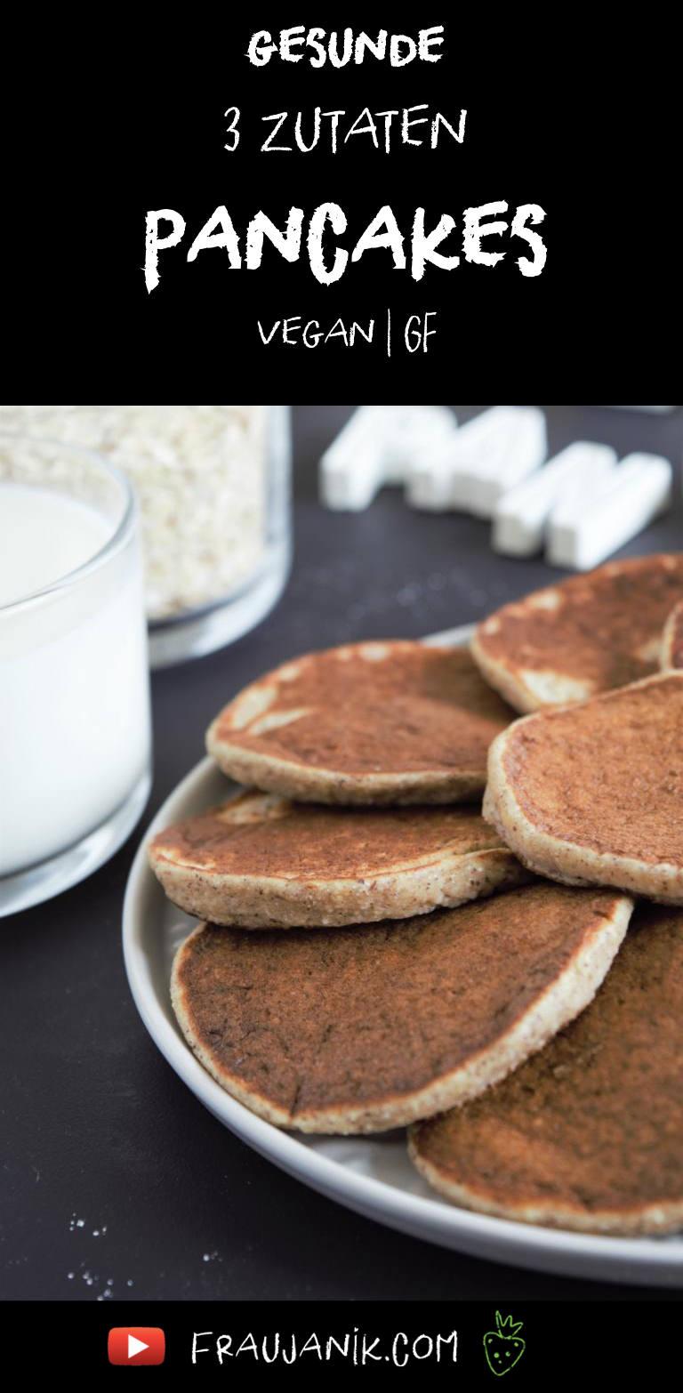 gesunde Pancakes 3 Zutaten vegan