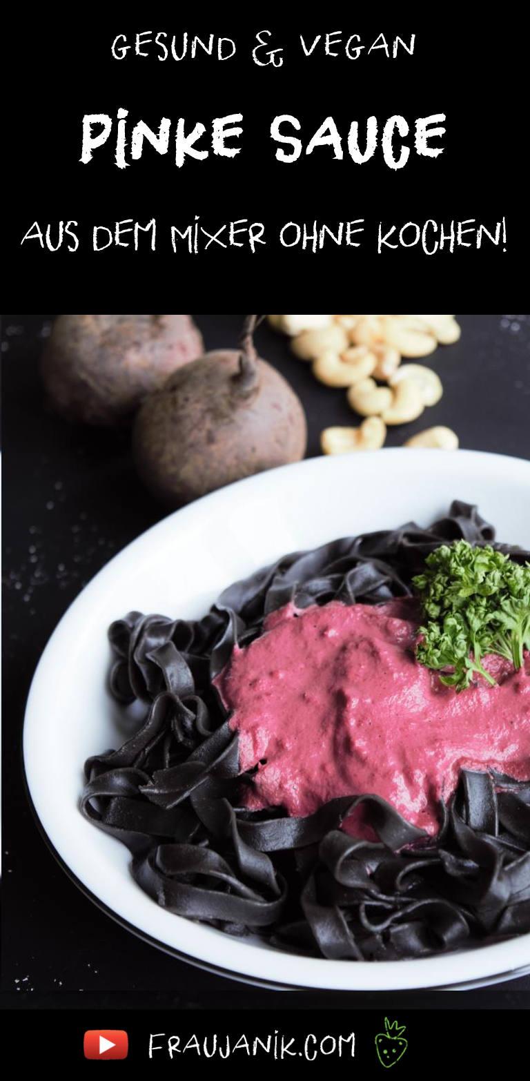 Pink Sauce aus Cashews und rote Beete, vegan