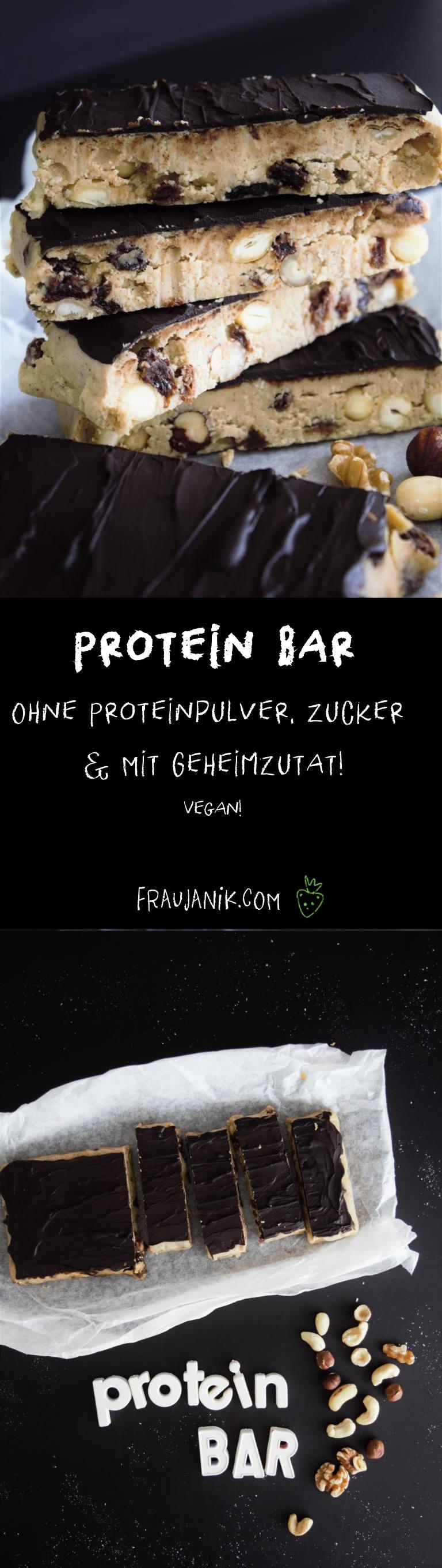 Proteinbar, Proteinriegel selber machen, kichererbsen, vegan, ohne proteinpulver