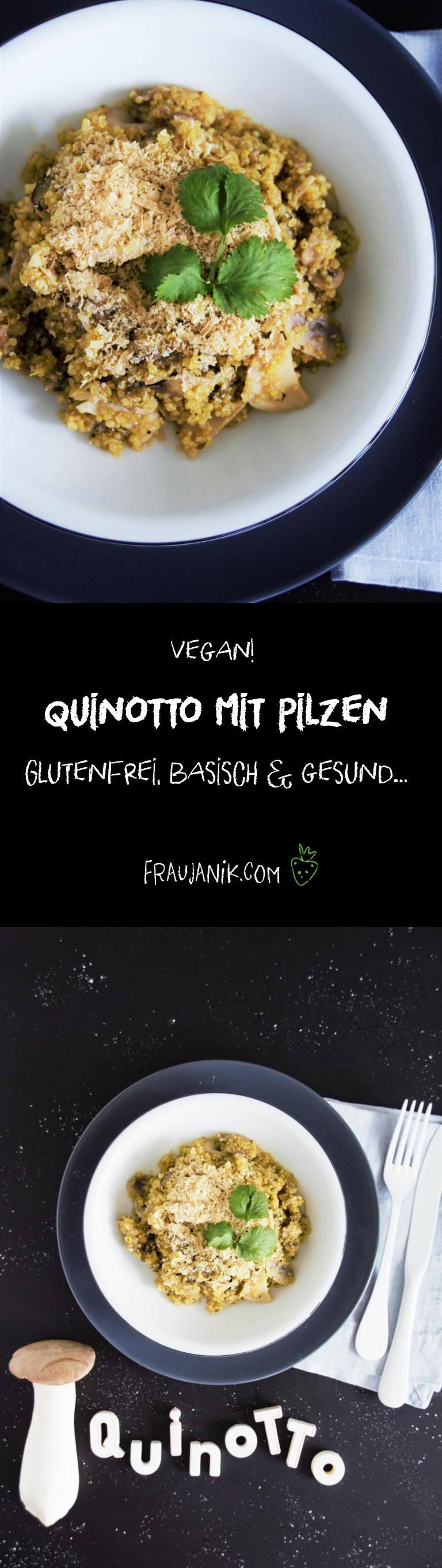 Quinotto mit Pilze, Risotto mit Quinoa