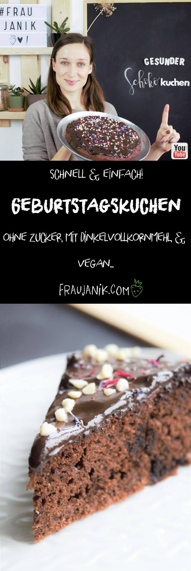 Gesunder Schokokuchen Vegan Frau Janik