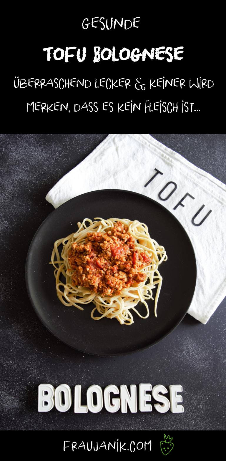Tofubolognese, vegan