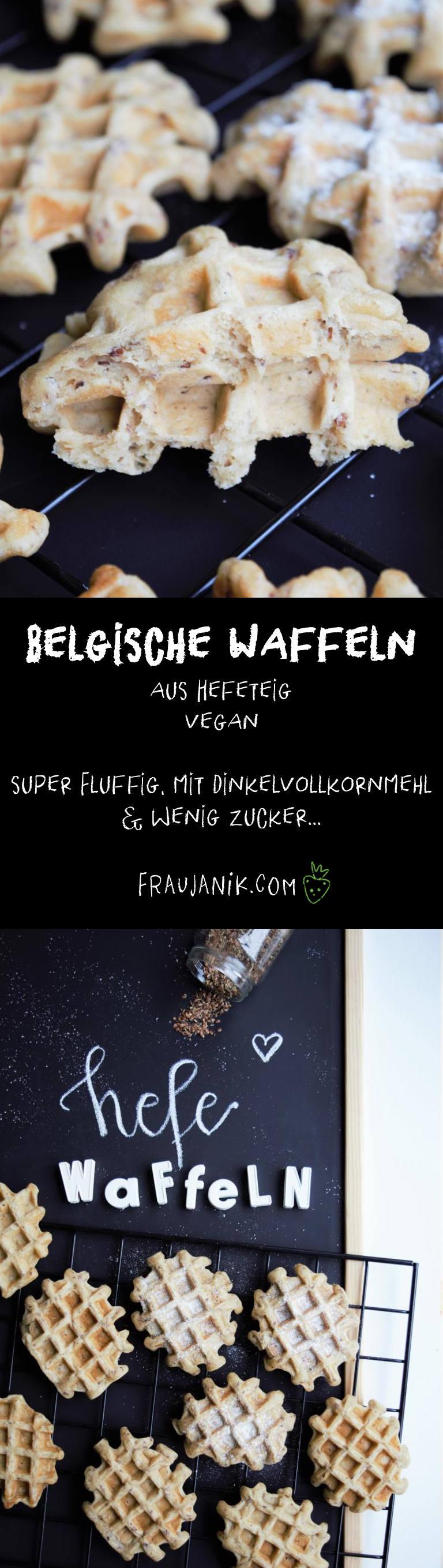 Waffeln Hefe, vegan, Belgische Waffeln