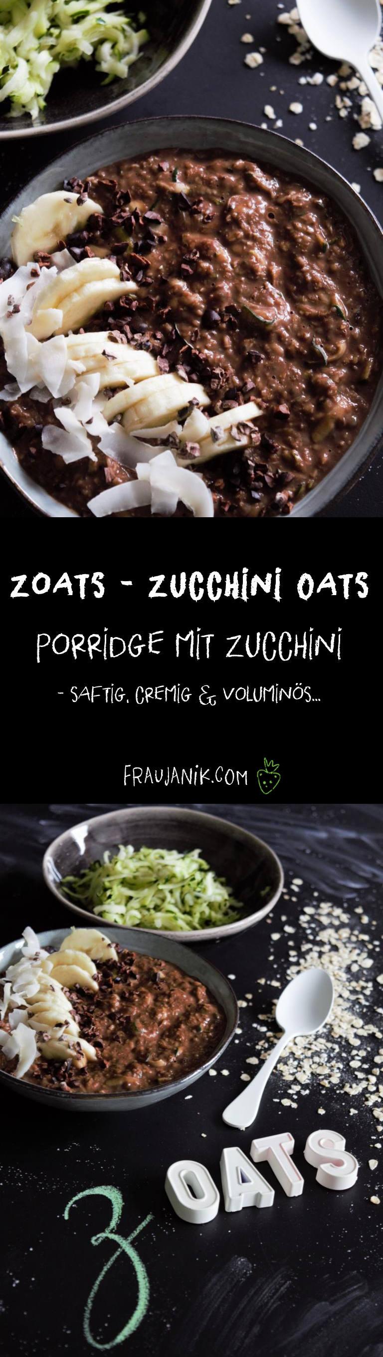 Zoats, zucchini oats, porridge mit Zucchini