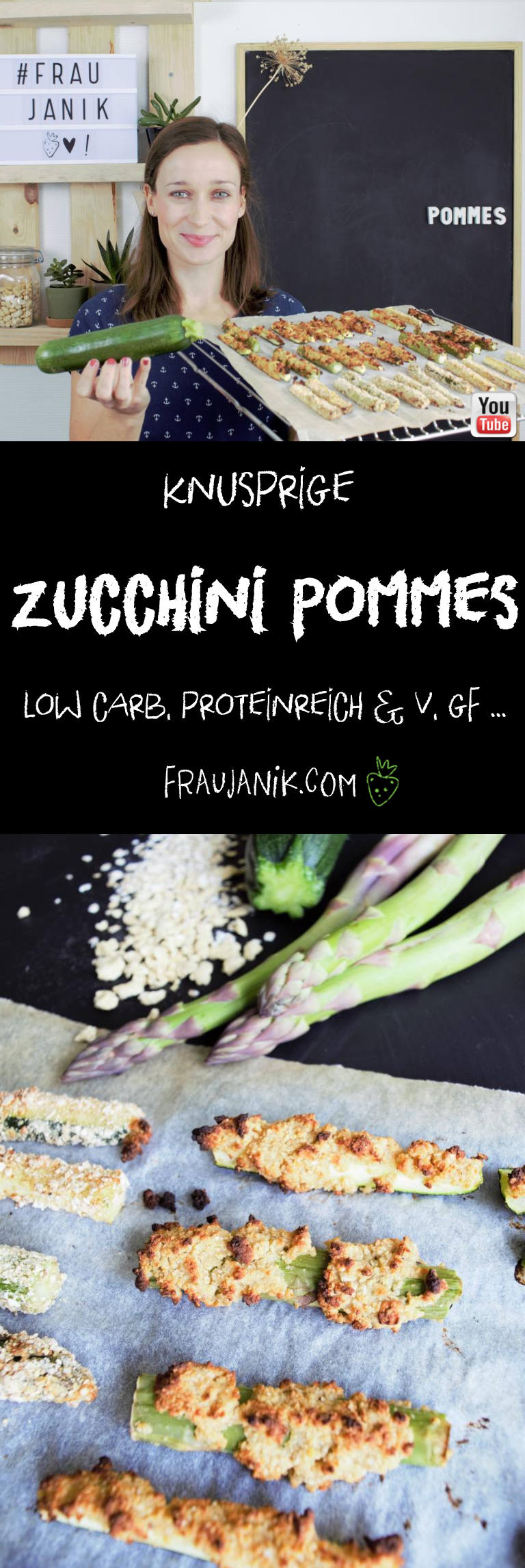 knusprige zucchini Pommes vegan