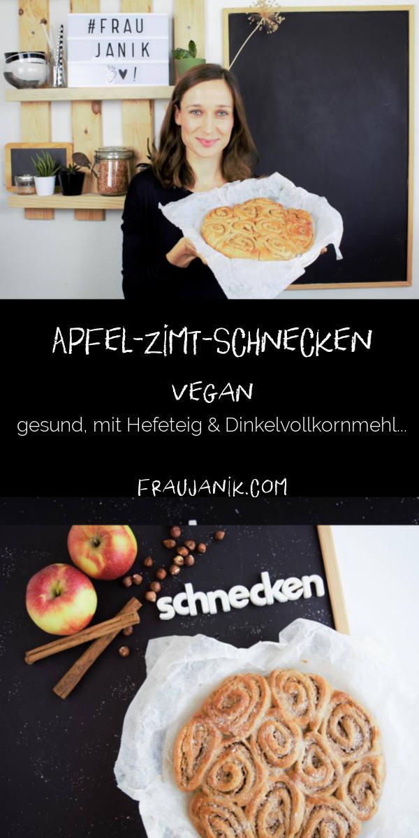 Apfel-Zimt-Schnecken vegan fraujanik nusschnecken