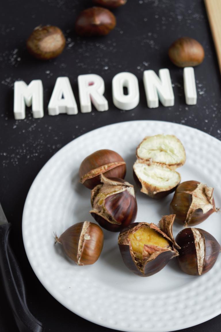Maroni aus der Mikrowelle   gesunder Snack