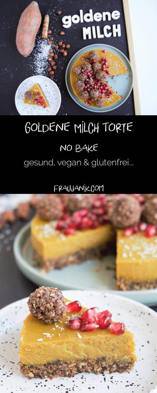 Goldene Milch Torte - no bake   vegan & glutenfrei