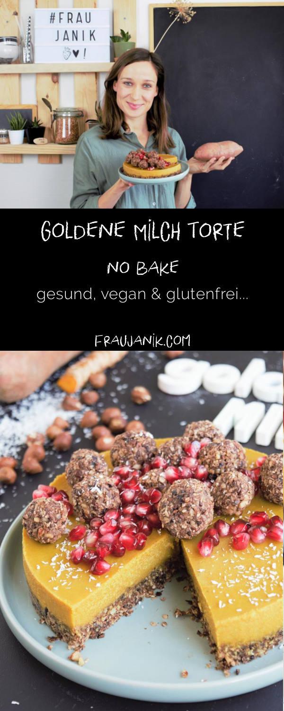 Goldene Milch Torte - no bake | vegan & glutenfrei