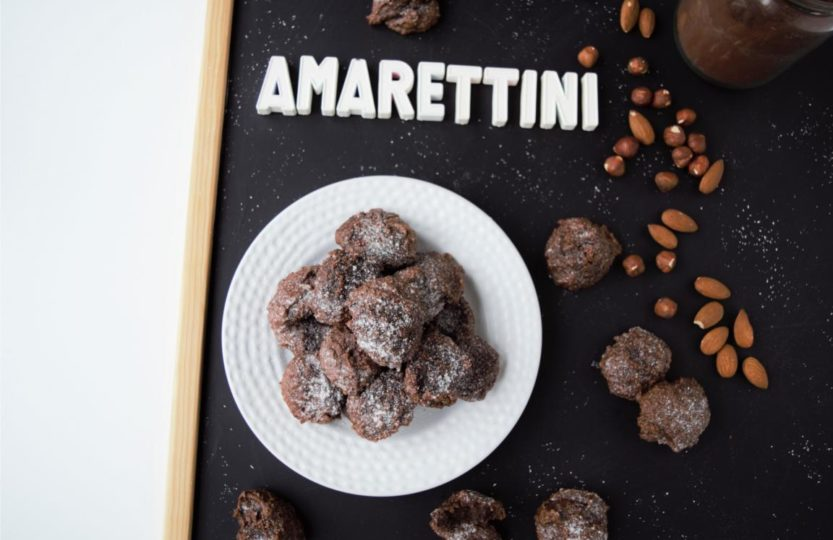 vegane Amarettini, Schokoladen Amarettini, gesunde Amarettini, Amarettini ohne Eier, fraujanik