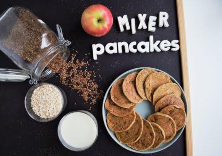gesunde Apfel Pancakes aus dem Mixer, glutenfrei, vegan, 4 Zutaten, fraujanik