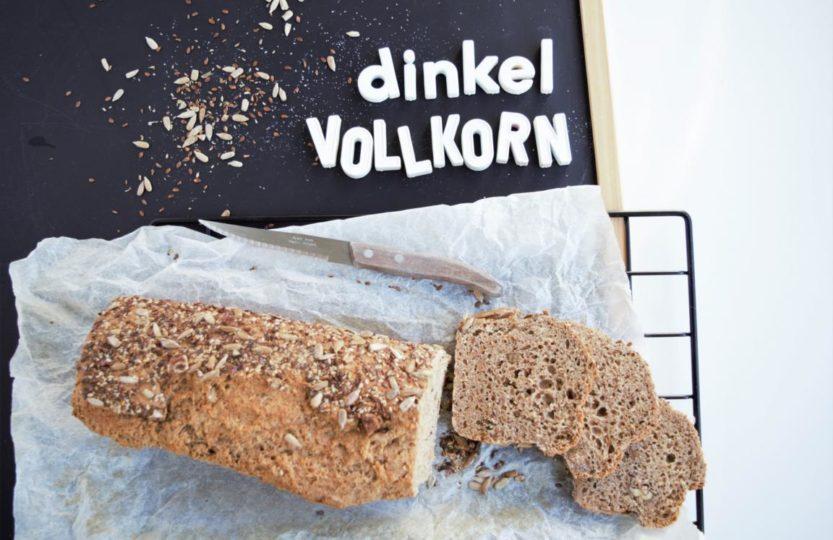 Dinkelvollkornbrot, Dinkelbrot, Vollkornbrot, frau janik, Brot ohne Aufgehzeit, hefeteigbrot schnell