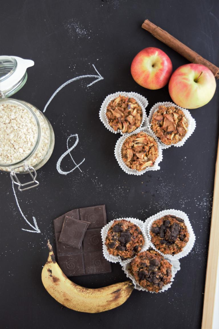 Fruhstucksmuffins Ohne Zucker V Gf Schoko Banane Apfel Zimt