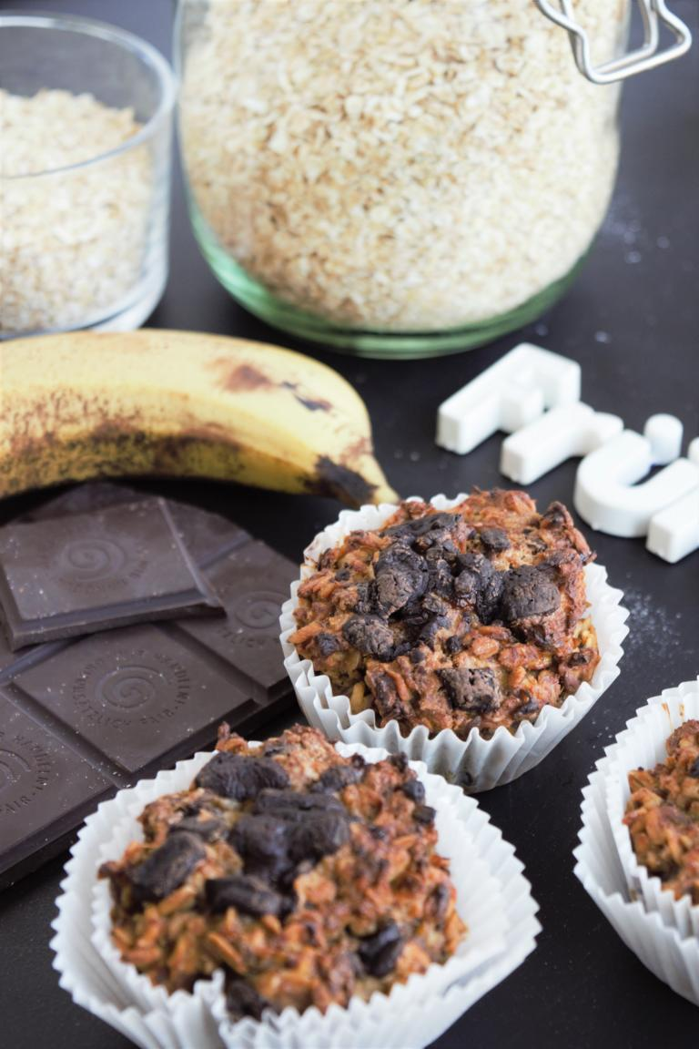 Frühstücksmuffins ohne Zucker & Mehl | vegan & glutenfrei | Schoko-Banane & Apfel-Zimt, fraujanik