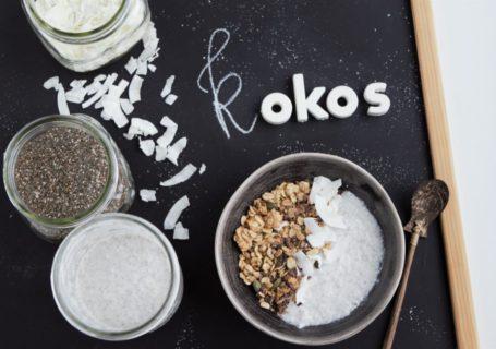 Kokosjoghurt, 2 Zutaten, ohne kochen,ohne Joghurtferment, Kokosjoghurt selber machen, Joghurt vegan, Chiapudding Kokos, fraujanik