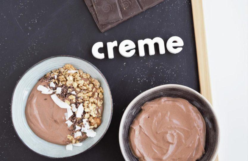 Schokocreme/-pudding aus dem Mixer ohne kochen | 2 Zutaten | vegan